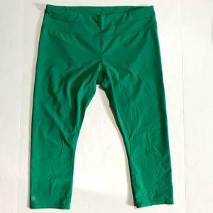 Athleta Green Legging Size Large Tight Crop Capri